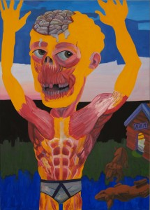 New happy man 2008, 160x115 cm
